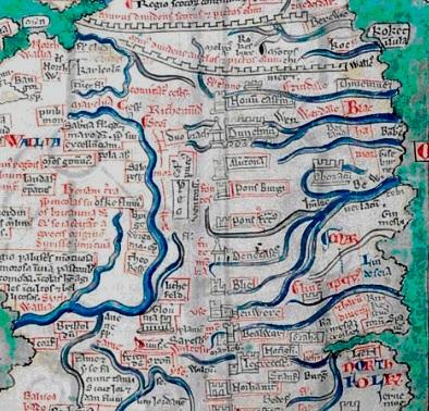 karta över frankrikes floder
